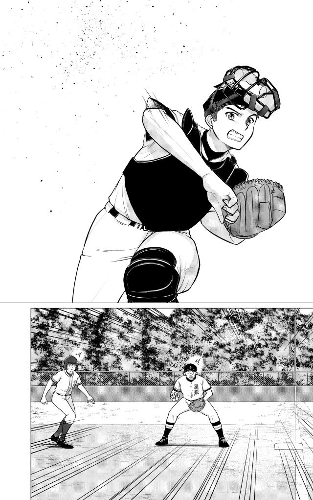 野球ボールを勢いよく一塁へ送球する